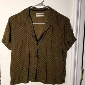 URBAN OUTFITTERS Green Button Down